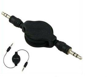 2014 100pcs/lot Retractable Audio Aux Cable for iPod iPhone 4 G 4th Gen AUC-3