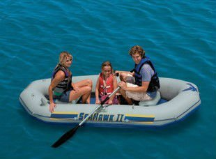 Free shipping 3 people seahawk II intex 68377 inflatable rigid rescue boat, pvc inflatable surboat, inflatable plastic boat(China (Mainland))