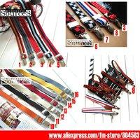 (20pcs/lot)kids Suspenders Elastic Clip-on Solid Braces straps,4 clips children's Suspenders,children accessories