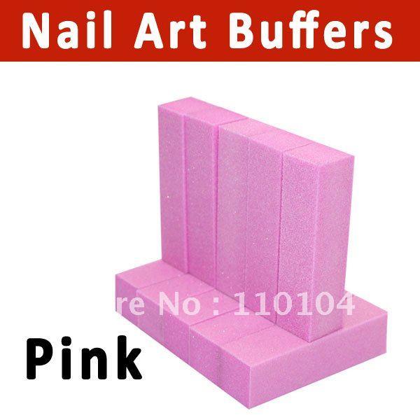 10pcs/pack 4 way pattern nail buffer block polish files Nail Art Tips Manicure Tool Pink(China (Mainland))