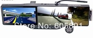 Car Rearview Mirror 5.0 HD Touch screen GPS+bluetooth+AV+720P Camera DVR Multi-languages+wireless parking camera+4GB cards