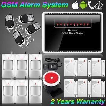 KERUI APP ANDRIOD IOS Smart Wireless Wired Burglar GSM SMS Home Security Alarm System SMS & Calling Built-in Speaker DIY KR-G12