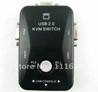 USB 2.0 2Port KVM Manual Switch Box MT-201UK Retail Free Shipping