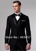 Men Suit  Tuxedo Custom Made Suit Groom Suit  Modern Fit  Fit Single Breasted Mens Suit  3 Piece Tuxedo Black  MS0298