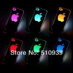 freeshipping NEW BIG GRAGON Sense Flash Twink light Hard Back Case/Cover For iphone 4/4G/4S MULTI Color Changed dropshipping!!(China (Mainland))