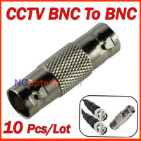 Free shipping 10pcs/lot CCTV Coax Female to Female BNC connector adapter