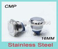 stainless steel push button, metal push button, 16mm diameter