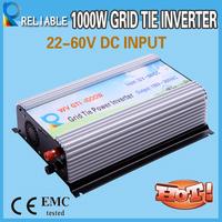 G serie 1000w 22-60V input wide input voltage grid tie solar inverter grid connected inverter