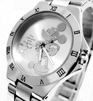 2014 Top Wholsale Women Quartz Watch fashion round mickey Watch Men childrens stainless steel Sport Watch 6pc/lot Free shipping