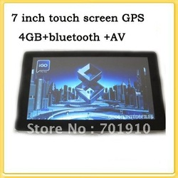 Free shipping New 7 inch TFT Car Navigation GPS+ free maps +4GB memory+Bluetooth+AV+128M RAM WIN CE6 .0 7&#39;&#39;YC-G72-BA(China (Mainland))