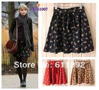 Free Shipping Japanese fashion style 2013 cat character pattern bow women chiffon short Skirt mini skirt 4 colors Free Size