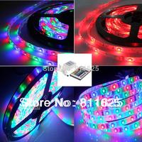 3528 RGB SMD 5M 300 LED Strip Light Flexible  Waterproof +24 Key IR Remote Control