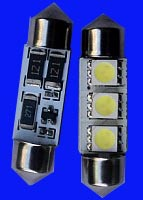 Free Shipping,100pcs/lot,C5W 36mm canbus 3 SMD 5050 SMD LED CAN BUS OBC ERROR FREE,license light