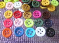 H073 Fashion Resin Button 8.5mm Mixede color 200pcs Round Garment Button DIY(can select color)