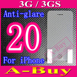 Matte Anti-Glare Anti Glare Screen Protector Film For iPhone 3G 3GS,NO Retail Package+20pcs/lot(China (Mainland))