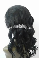 "Free Shipping+Chinese/Indian/Brazil/Europea/Malaysia Hair 10""-24"" Wave 1b# Full Lace Wigs"