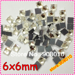 200pcs 6mm Asmmetric Square Flat Back Crystal Color 6x6mm Square Stone For Jewelry Making,Phone Decoration(China (Mainland))