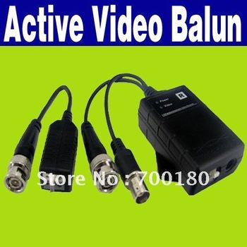 Free Shipping Network Active Power Video Receiver Balun CAT5 to Camera CCTV BNC O-825