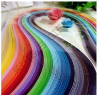 720pcs Paper Quilling 3 milímetros Largura x 54 centímetros de comprimento mistos 36 Cores DIY material de papel Frete Grátis