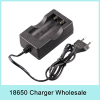 Wholesale x10 Wired Dual Travel Charger for 18650 Li-ion Battery Pack Chargers 110V~240V AC EU US Plug For Russia NEW 2014