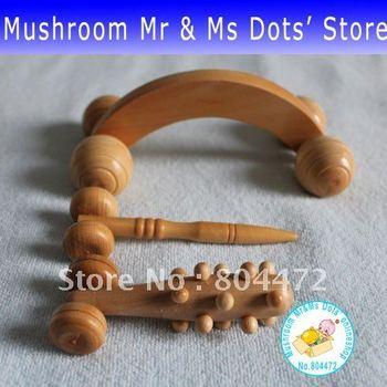 Retail Natural Wooden Massage Tool, 1 pc Face Roller+1 pc Back Massage + 1 pc Unique Hand Massage,  3 pcs/set