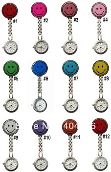 The popular watch medical nurse smiling face pocket watch fashionable smile face 100pcs/lot