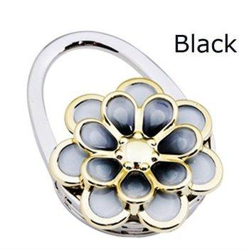 Fashion Crystal Handbag Folding Purse Hanger Hook holder FREE SHIPPING Black  mixed to select ML-047