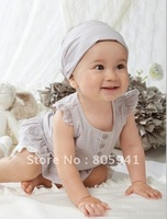 Free shipping baby infant wear Baby girl Summer Clothing Set cotton T-shirt+pants+headband 3-piece set,baby suit