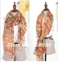Cheap Women Vintage Scarf shawl 180*110cm Fashion ladies Hijab 12pcs/lot Free shipping