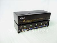 4Port VGA SPLITTER with Audio Metal case 450MHZ CKL-104S