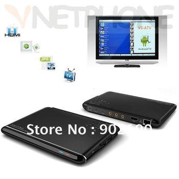 201206 Google Android 4.0 ARM Cortex A9 1GHz WiFi HD 1080P HDMI Internet TV Box Black HD media player Internet set top box