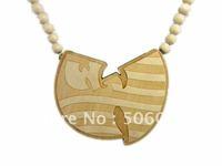Min Order $10 10pcs/lot wooden hiphop wu tang necklace good wood Pendant Rosary
