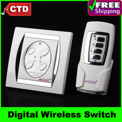 Free Shipping High Quality 4-channel Digital Wireless Remote Control Switch(China (Mainland))