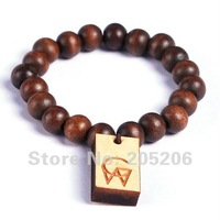Promotion!!!1 pcs Brown series Hip Hop wood rosary beads GW bracelet,Free shipping!!!#W33507F03