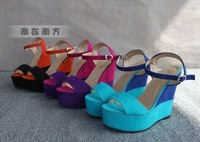Free shipping!2012New arrival hot sale sexy&fashion PU leather platforms pumps lady's high heel shoes,1pc/lot