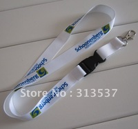 1000pcs/lot 20mm*90cm free shipping  neck strap custom lanyard with plastic buckle and metal hook sublimated polyester
