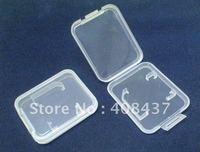 Free Shipping 10pcs/lot Small PLASTIC CASE COVER BOX FOR 4GB 8GB 16GB TF SD MMC MicroSD For Flash Memory Card Transparent White