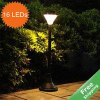 Solar Post light solar lawn light+Automatic on at dusk +100%solar power+16 bright LEDs