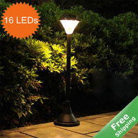 Solar Post light solar lawn light+Automatic on at dusk +100%solar power+16 bright LEDs