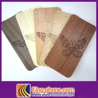 hot selling butterfly sticker wooden case for iphone 4S/4G free shipping