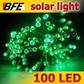 4pcs/Lot 58ft 18m 100 LED Green Solar Lights String Lamps Outdoor Lighting Bright