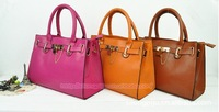 2013 Hot Sale Europe Fashion Women handbags women Elegant tote PU Leather Bag 5colors in stock Freeshipping