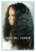 "New Arrival! on sale 100% Indian Remy Human Hair Lace Front  Wigs 8"" - 24"" Deep Bodywave 1b# Off Black _ High Quality Free ship!"