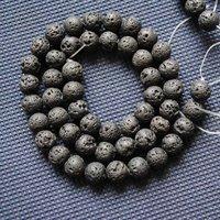 Free Shipping,540pcs/Lot,Nature Lava Stone,Round Ball Shape,Nature Black Lava Stone,Nature Semi Precious Stone,Size: 4mm