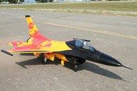 RTF Orange  Version  /  RC F-16 jet plane /  70mm EDF 360 Degree Thrust Vectoring RTF  JET plane /  Ready To Fly