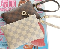 Genuine brand,top grade elegant & graceful wristlets,low profile brand crutch bags,classical plaid purse.Recommend!