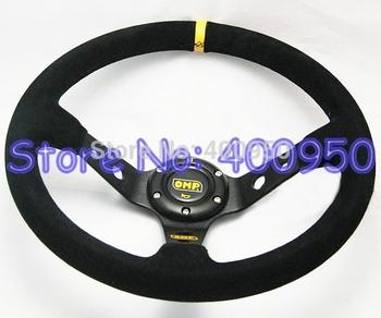14 inch OMP Steering Wheel Suede Racing Car Deep Dish Suede Leather Steering Wheel OMP Wheel