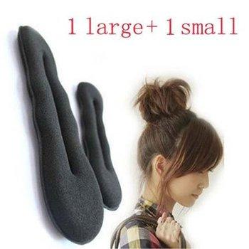 Free shiping,5 sets/lot,Sponge Bun Clip Maker Former Foam Twist Hair clips Tools L+S ,Hot selling
