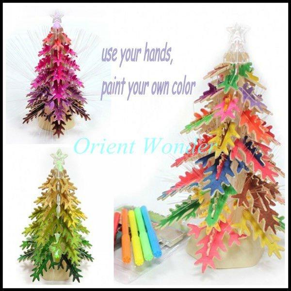 arbre de Noël, puzzle 3D avec de la musique et de la lumière , arbre ...
