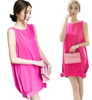 6229 summer new Korean temperament dress jumpsuit short skirt sleeveless vest skirt dress Rose